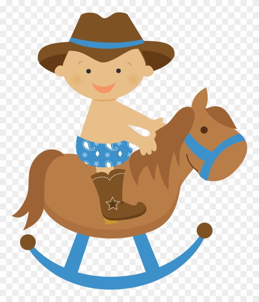 Cowboy Clipart Baby Cowboy - Invitaciones De Baby Shower Caballitos - Png Download #1266839
