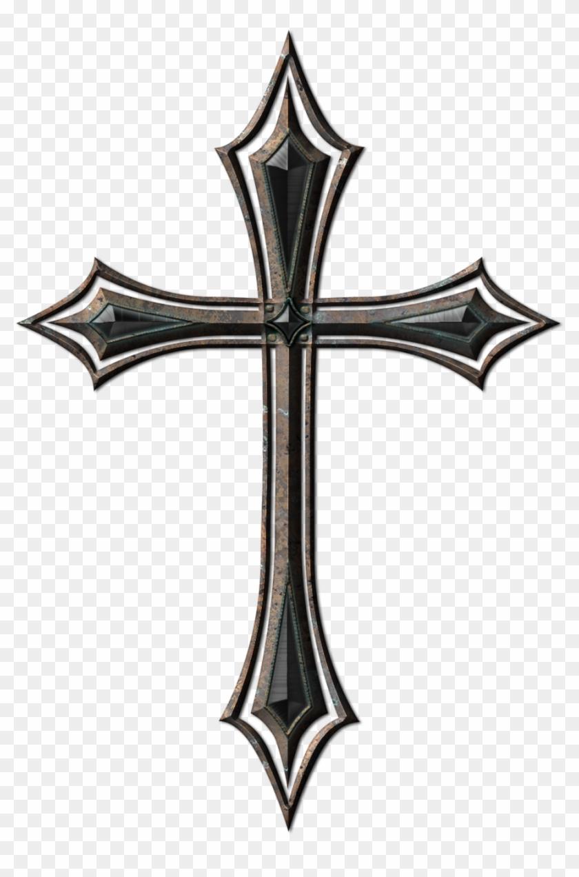Cross Tattoo Png , Old Metal Cross, Transparent Png