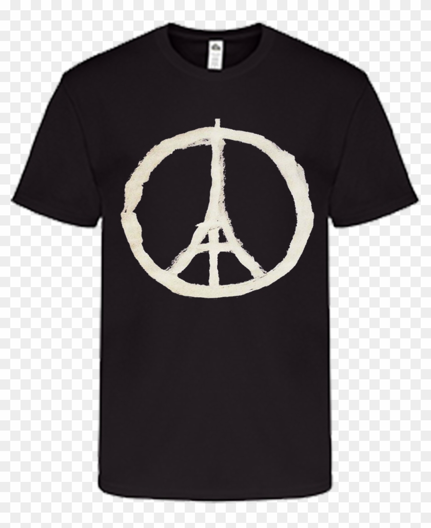 Peace Sign Eiffel Tower - Raiders Golden Knights Shirt Clipart #1276766