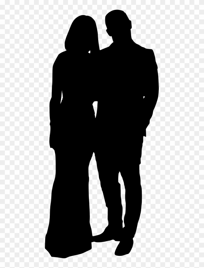 Png File Size - Couple Silhouette Transparent Background Clipart #1284635
