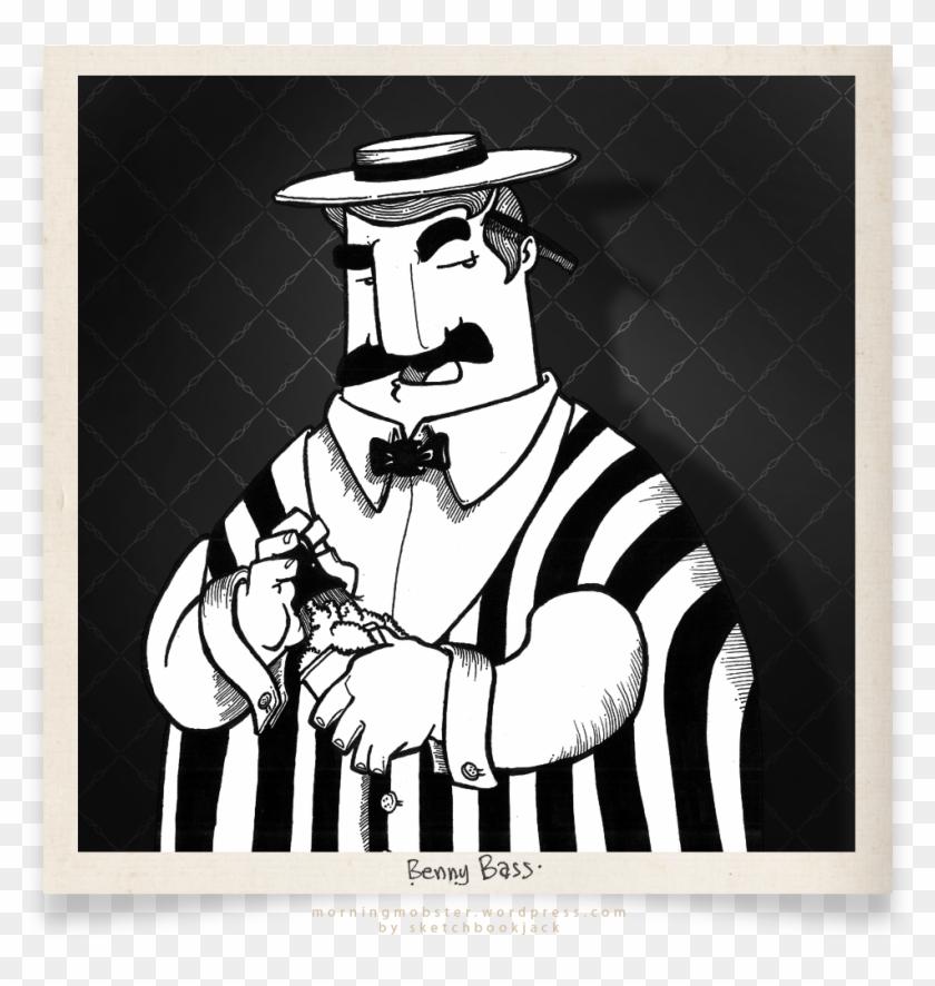 Benny Bass Daily Mobster Sketchbookjack Cartoon Illustration - Illustration Clipart #1285192