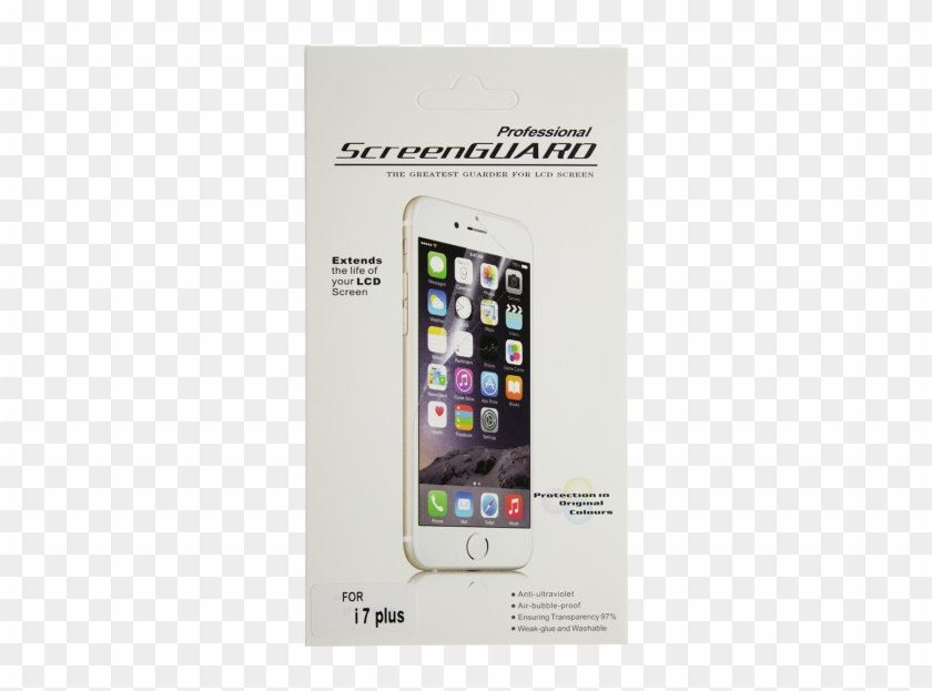 Iphone 8 Plus Clear Screen Protector - Iphone 6 Gold Png Clipart #1291395