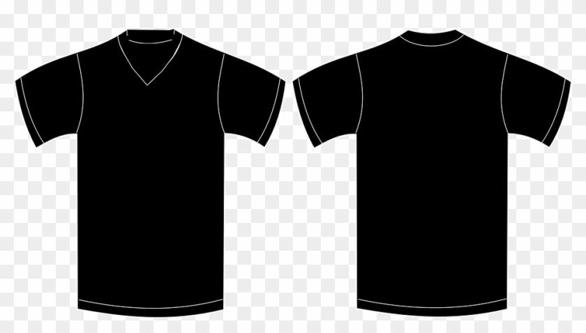 Tee-shirt, Sweat Shirt, Garment, Front - Black V Neck T Shirt Template Clipart #1291814