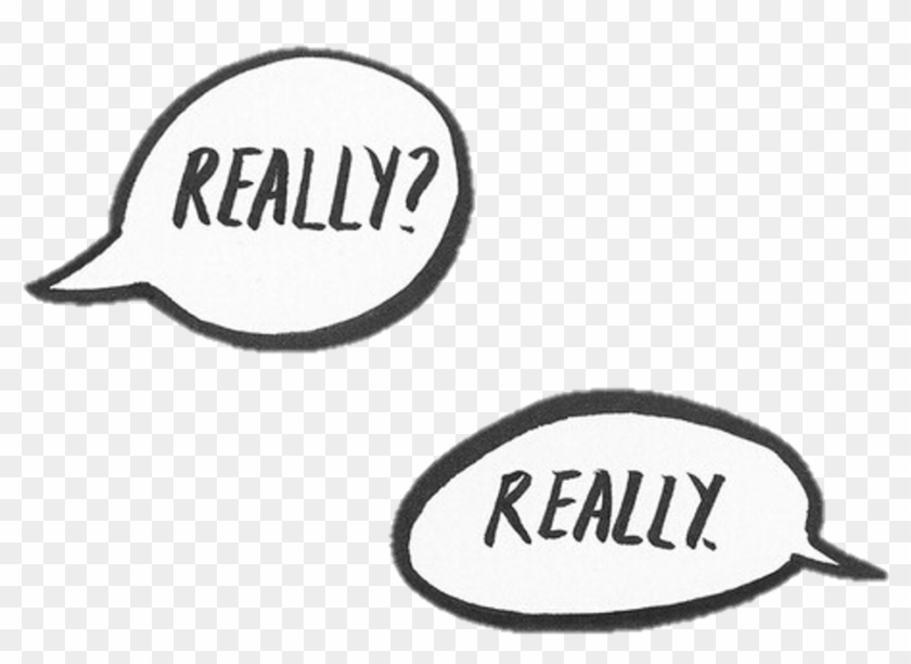 #png #really #sticker #tumblr #conversation # - Line Art Clipart #1293917