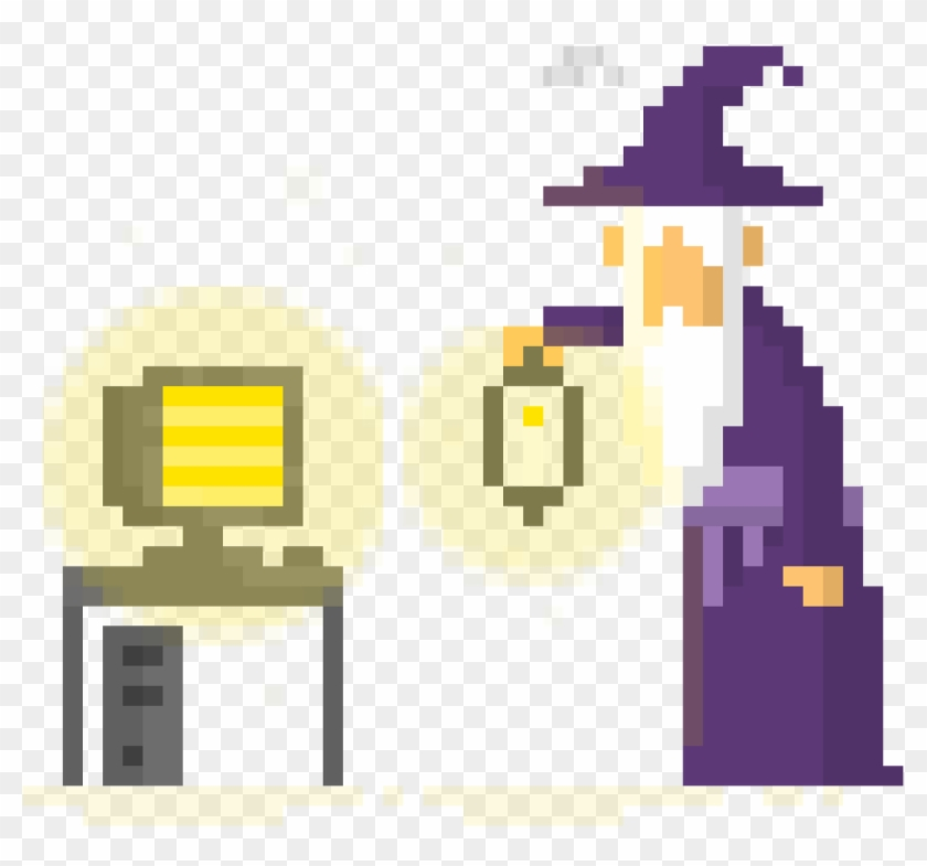 Make And Rescale Pixel Art - Simple Pixel Art Wizard Clipart #1297034