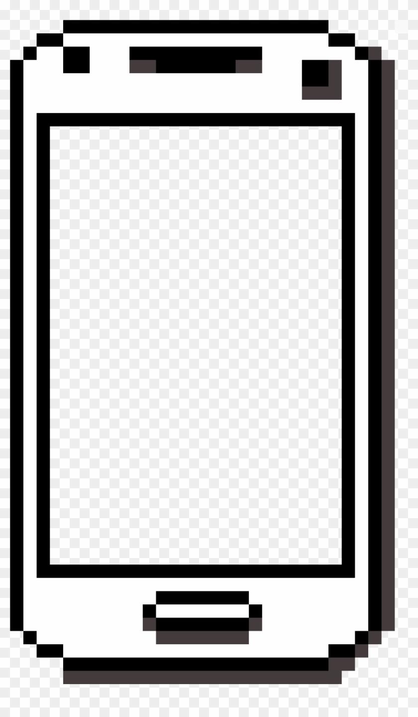Phone - Pixel Art Head Base Clipart #1297059
