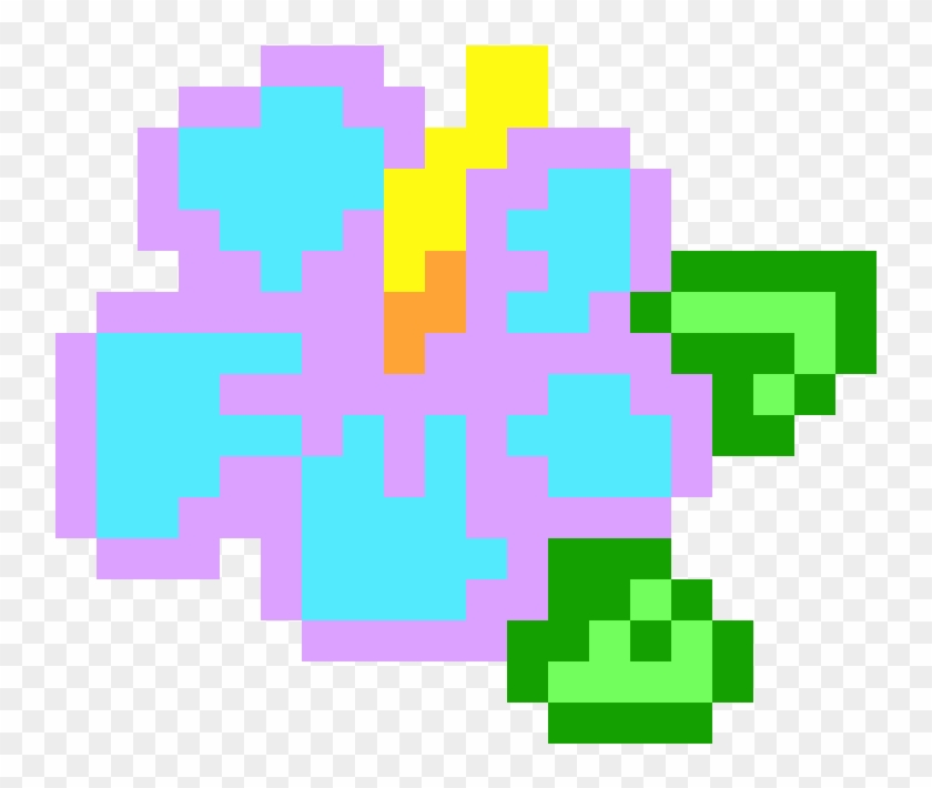 Flower Pixel Art Grid Clipart #1297215