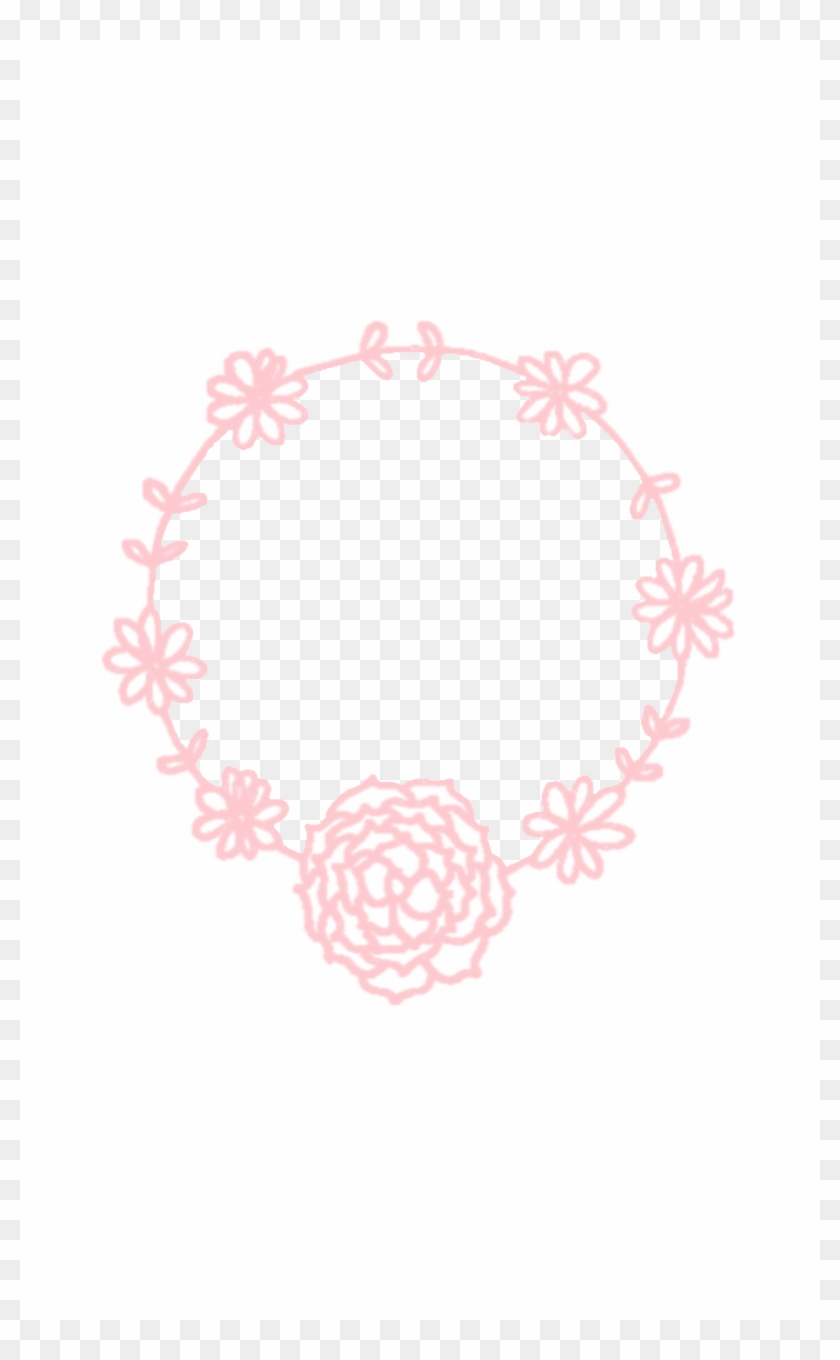 Minimal Pink White Floral Wreath Iphone Background Rose Clipart