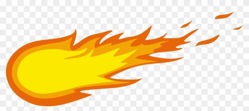 Burn Clipart Small Fire - Fireball Clipart - Png Download #135095