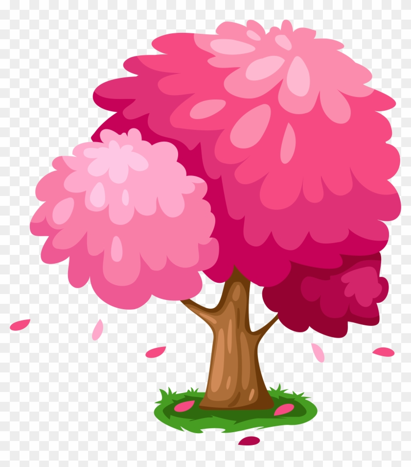 Cherry Blossom Clipart Pretty - Cute Tree Clipart Png Transparent Png #135194