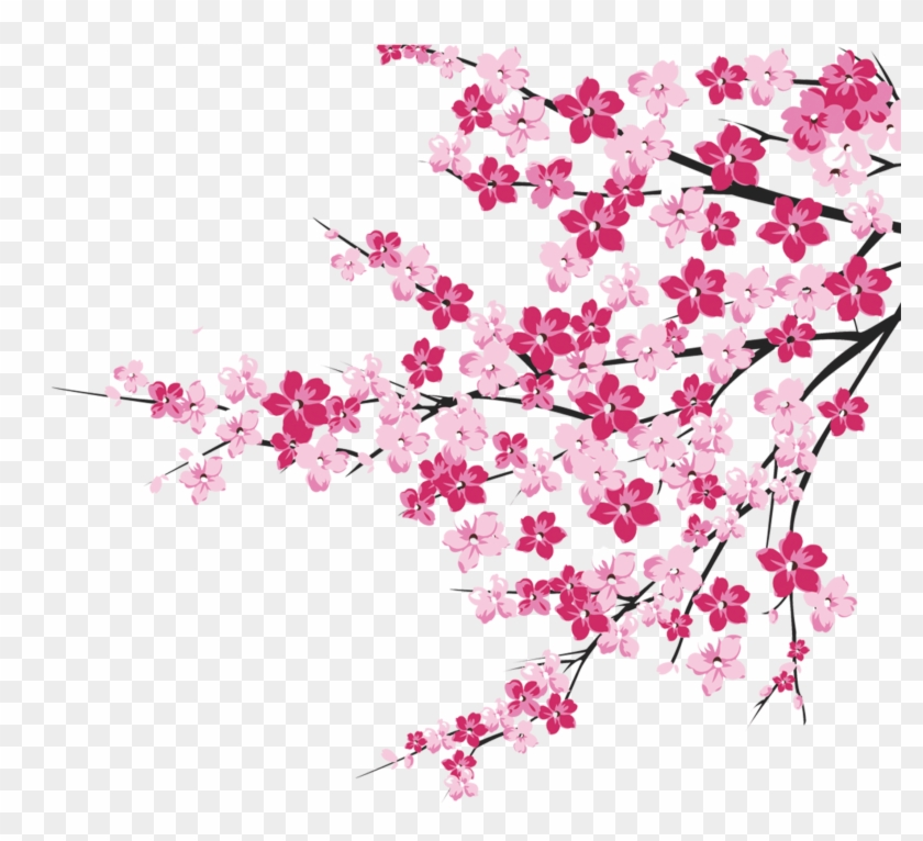 64 Cherry Blossom Tree Branch Cliparts For Your Inspiration - Png Download #135364
