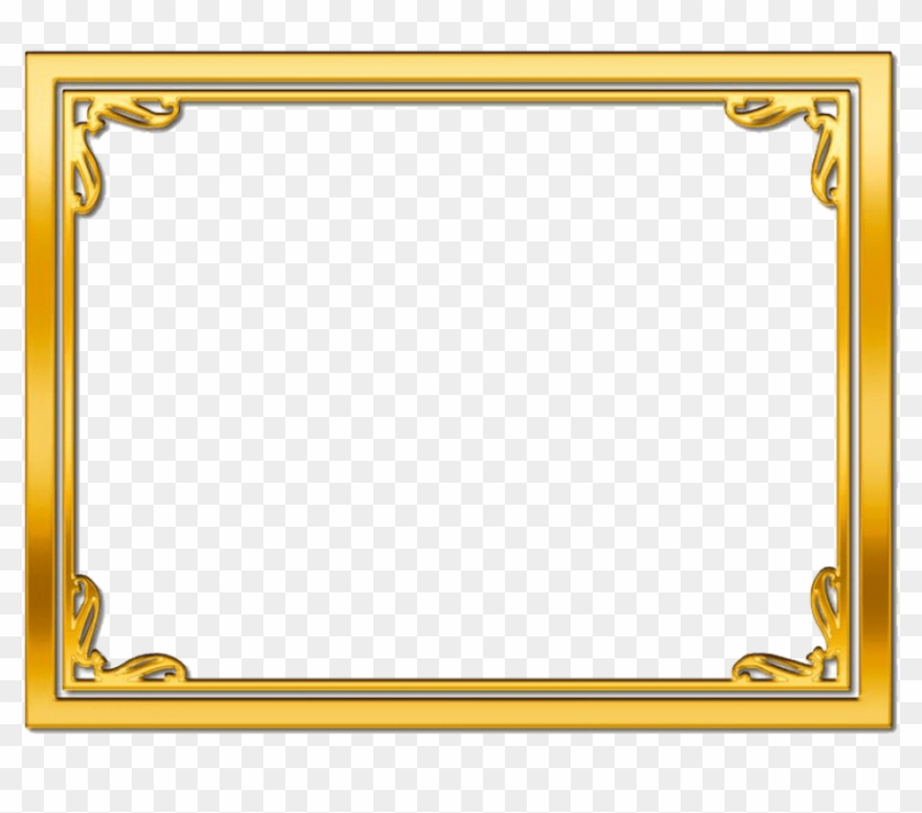 Gold Frame Png Picture - Gold Frame Border Png Clipart #135750