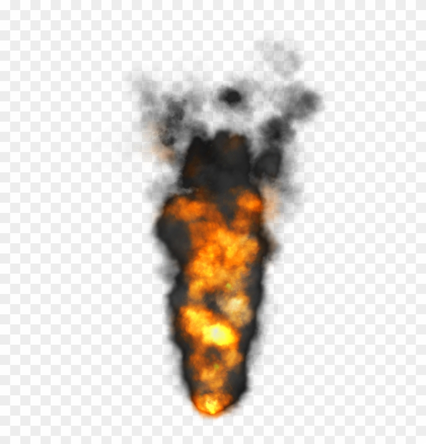 469 X 796 9 - Fire With Smoke Png Clipart #135775