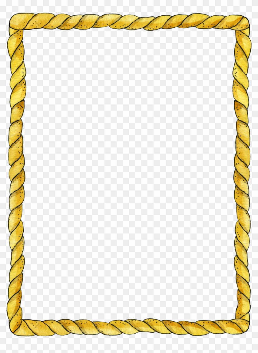 Rope Frame Rope Frame, Boarders And Frames, Png Photo, - Borders And Frames Design Clipart #136829