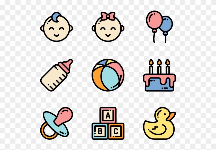 Baby Shower Icon Png Clipart #136855