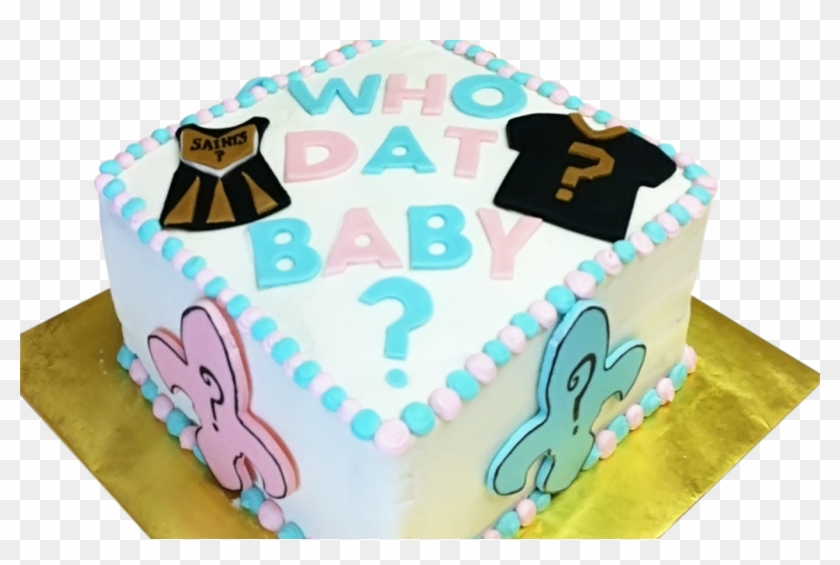 Awesome 9 Who Dat Baby Shower Cakes Photo New Orleans Saints Birthday Personalised Birthday Cards Veneteletsinfo
