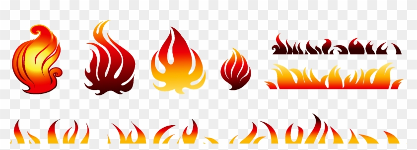 2244 X 700 3 - Fire Vector Free Download Ai Clipart #1300644