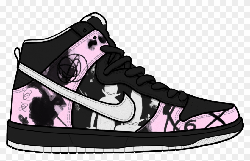 Nike Clipart Footwear Free Collection - Cartoon Nike Shoes Transparent - Png Download #1304070