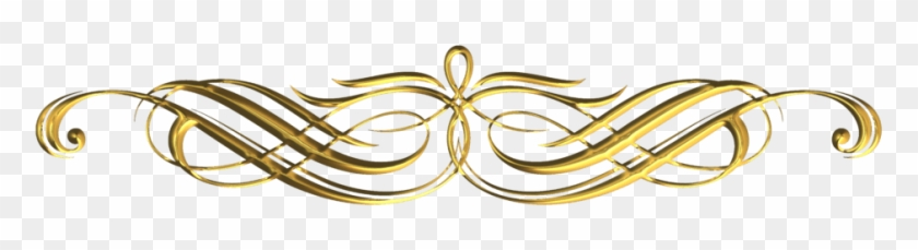 Free Png Gold Fancy Line Designs Png Image With Transparent - Golden Decorative Line Png Clipart #1308553