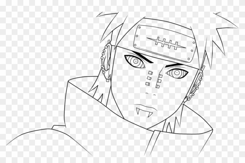 131 1316619 naruto pain clipart black and white pain drawings