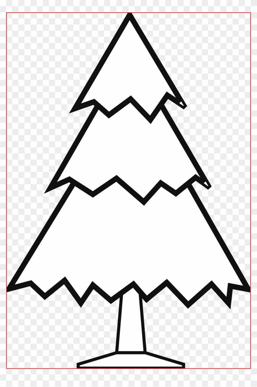 Simple 20black 20and 20white 20tree 20drawing Christmas Drawings Ideas Easy Clipart 1318285 Pikpng