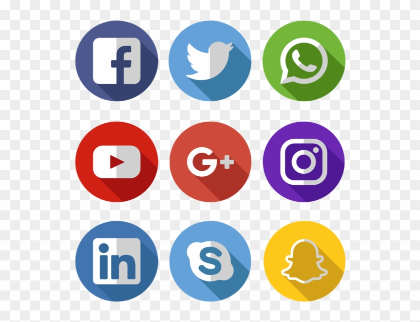 Media Icons Facebook Twitter - Iconos Redes Sociales Png Clipart #1320174