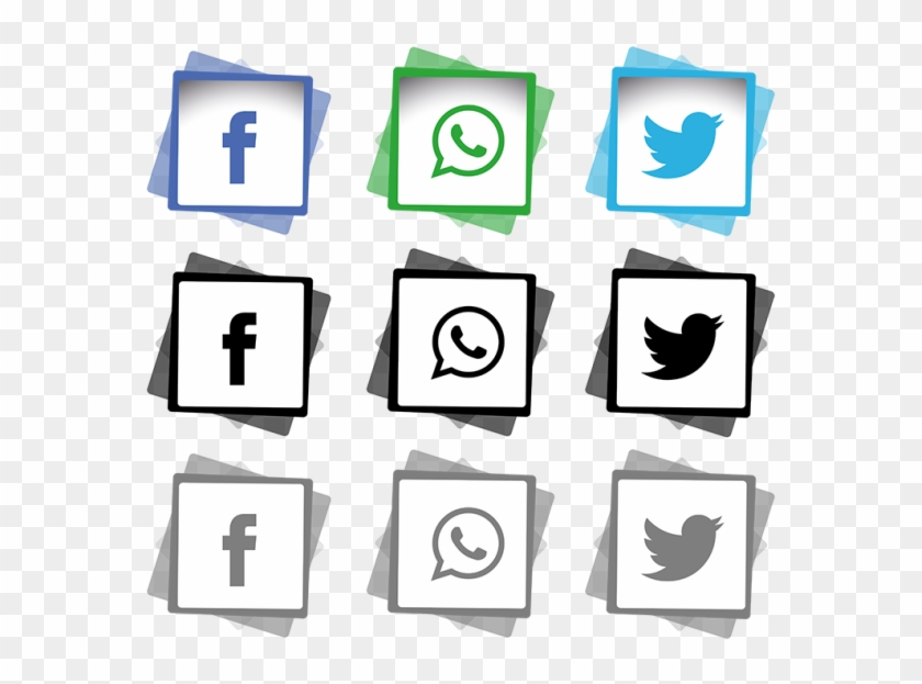 Social Media Icons Set Png And Vector - Social Media Logo White Png Clipart #1320295