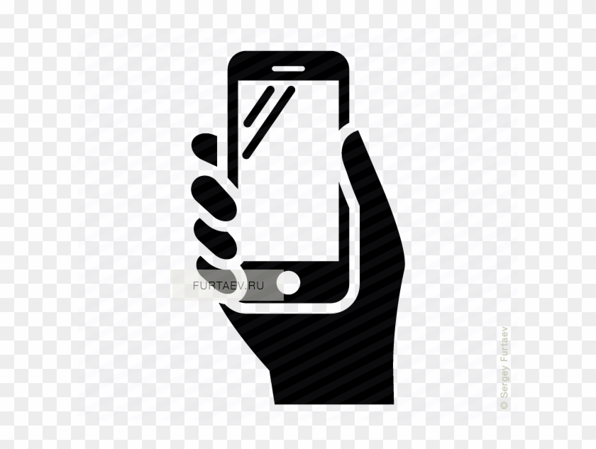 Phone Icons Hand - Mobile Health App Icon Clipart #1323051