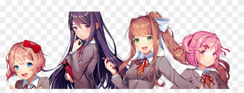 Doki Doki Literature Club - Doki Doki Literature Club Free Clipart #1324984