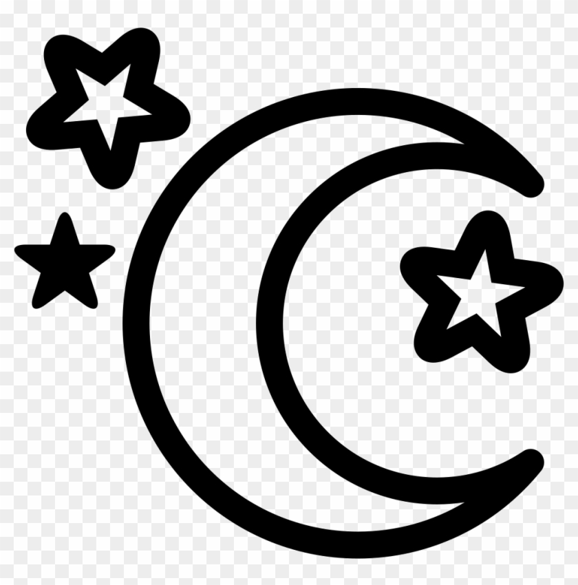 Moon And Stars Comments - Moon And Stars Outline Clipart #1331300