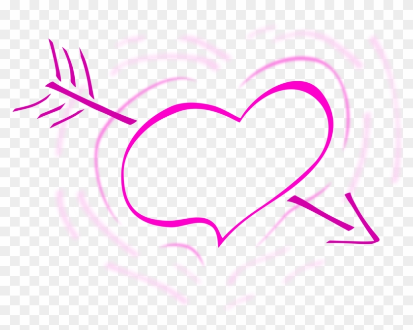 Jpg Freeuse Hearts And Free Commercial Clipart Love - Heart With Arrow Black And White - Png Download #1337061