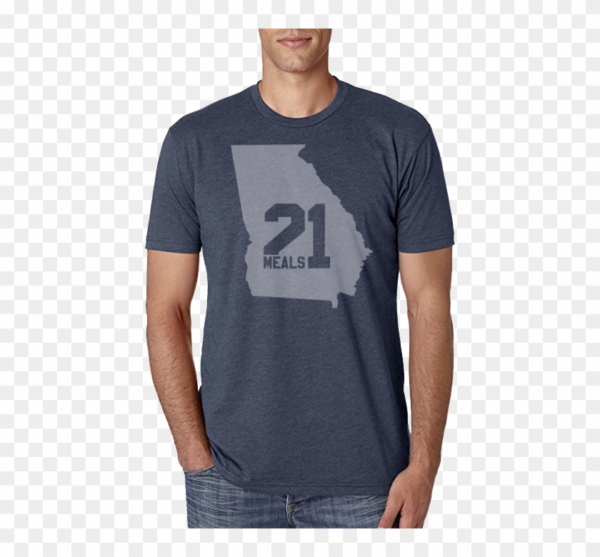 Georgia State Outline Shirt - Next Level 3600 Charcoal Clipart #1337198
