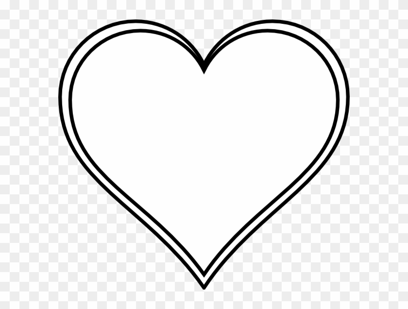Double Outline Heart Clip Art At Clker - White Love Heart Icon - Png Download #1337261
