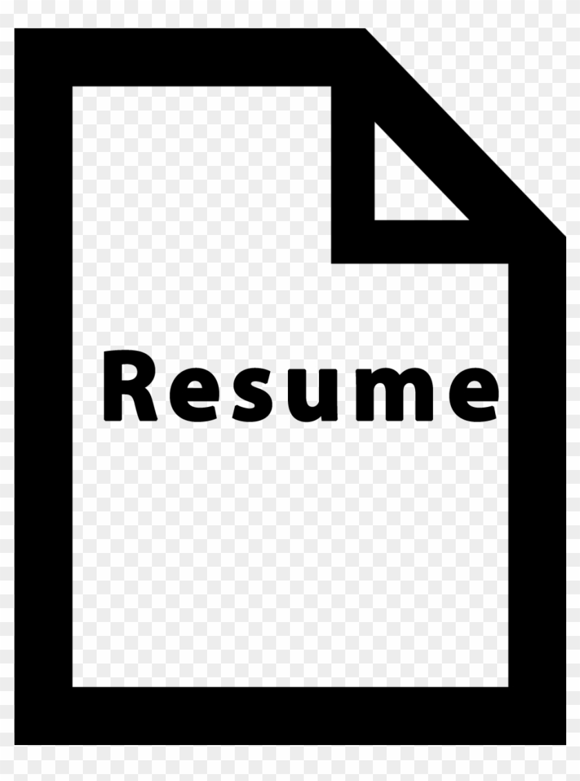 White Resume Icon Png Clipart 1342023 Pikpng