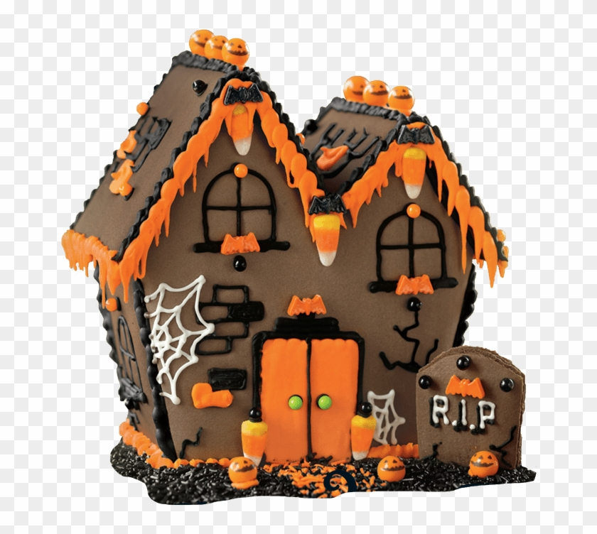 Halloween House Vector Free Png Photo - Haunted House Gingerbread House Clipart #1344084