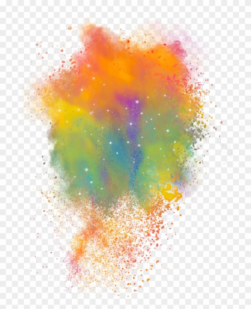 #powder #smoke #color #party #powderexplosion #powdercolor - Colour Spread, HD Png Download #1346148