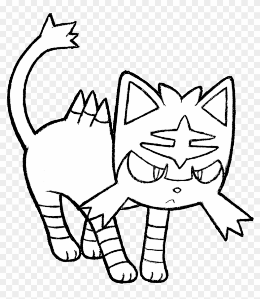 Litten Pokemon Coloring Pages With 28 Collection Of - Pokemon Colouring Pages Litten Clipart@pikpng.com