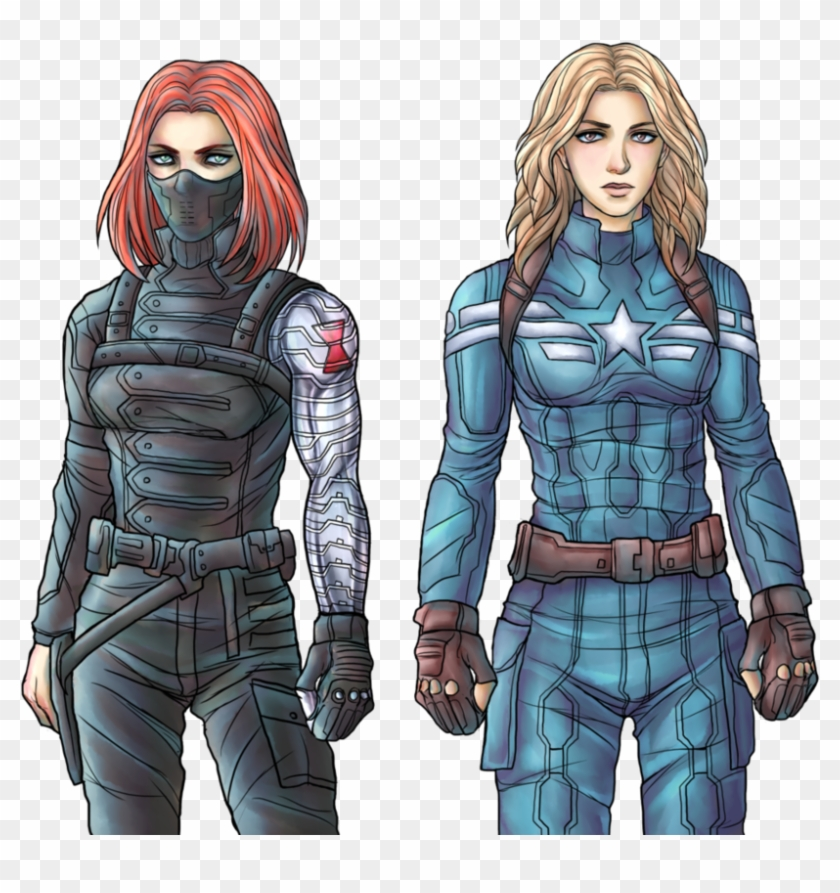Natasha Romanoff As Winter Soldier Sharon Carter As