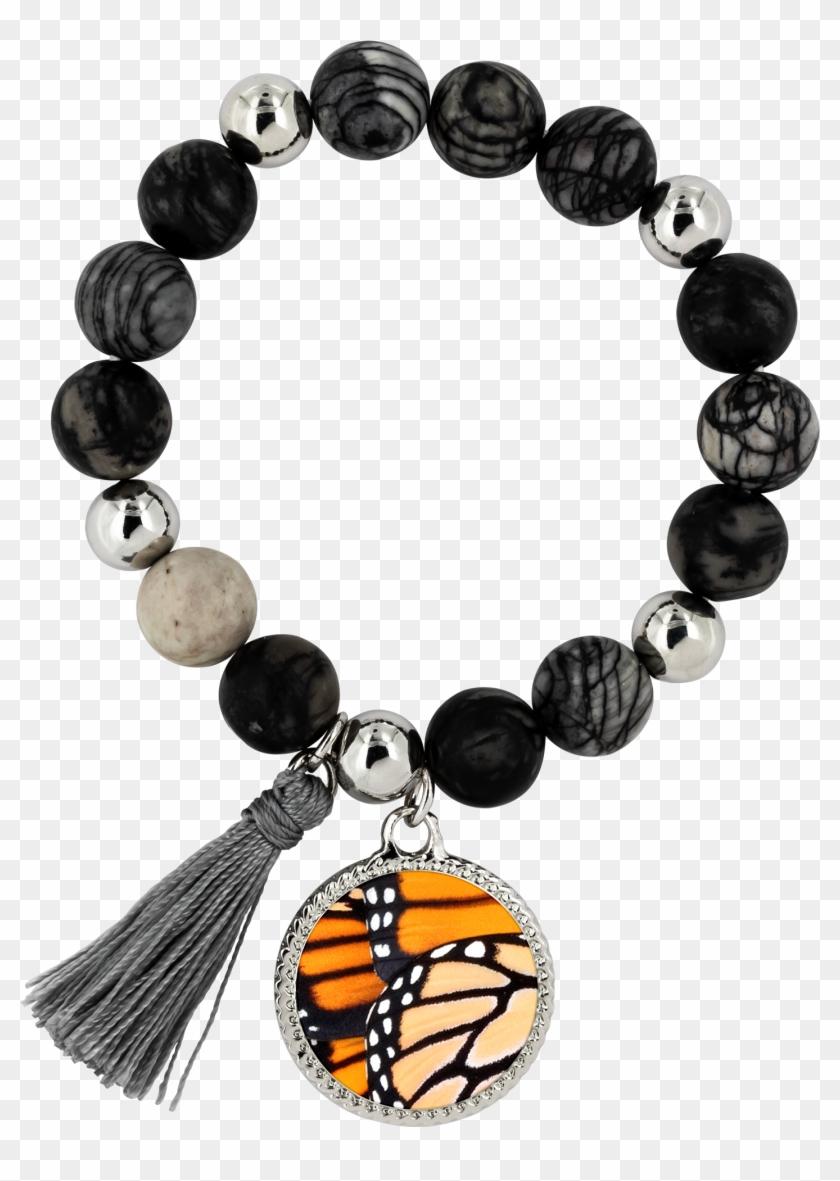 Monarch Butterfly Wings Lyric Bracelet - Bracelet Clipart #1354932
