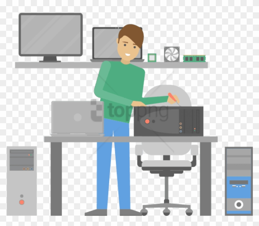 Free Png Download Computer Repair Technician Png Images Office