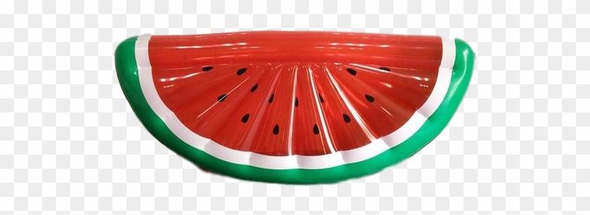 Inflatable Watermelon Half Slice Pool Floatie - Watermelon Clipart #1356609