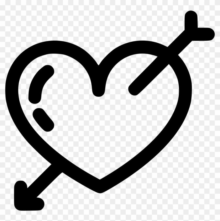 Heart And Arrow Comments - Cupid Heart Clipart - Png Download #1358778