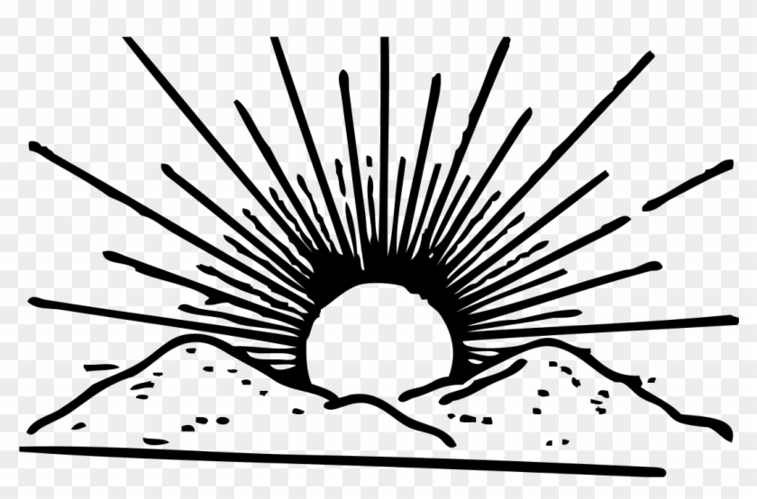 Transparent Background Rising Sun Clipart Png