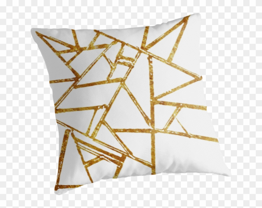 Geometry, Graphic, Line, Lines, Geometric Lines, Gold, - Cushion Clipart #1359658