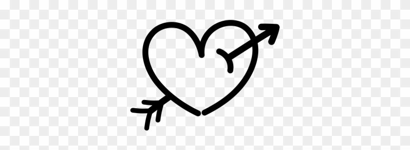 Heart With Arrow Tattoo Png Clipart #1359762