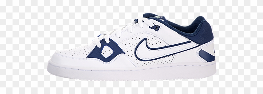 For Sales Men's Nike Son Of Force White / White Black - Sneakers Clipart #1364849