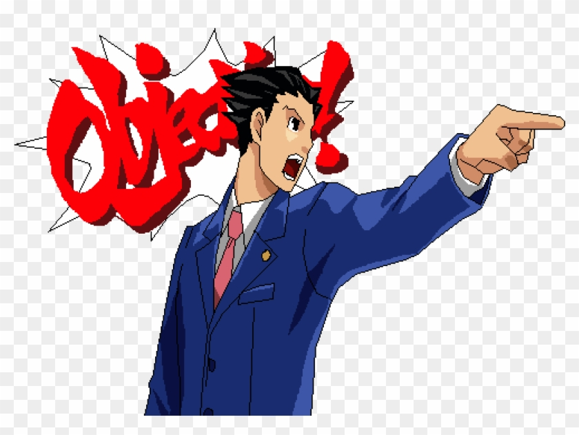 Phoenix Wright Objection Ace Attorney Stickers Clipart 1372599 Pikpng