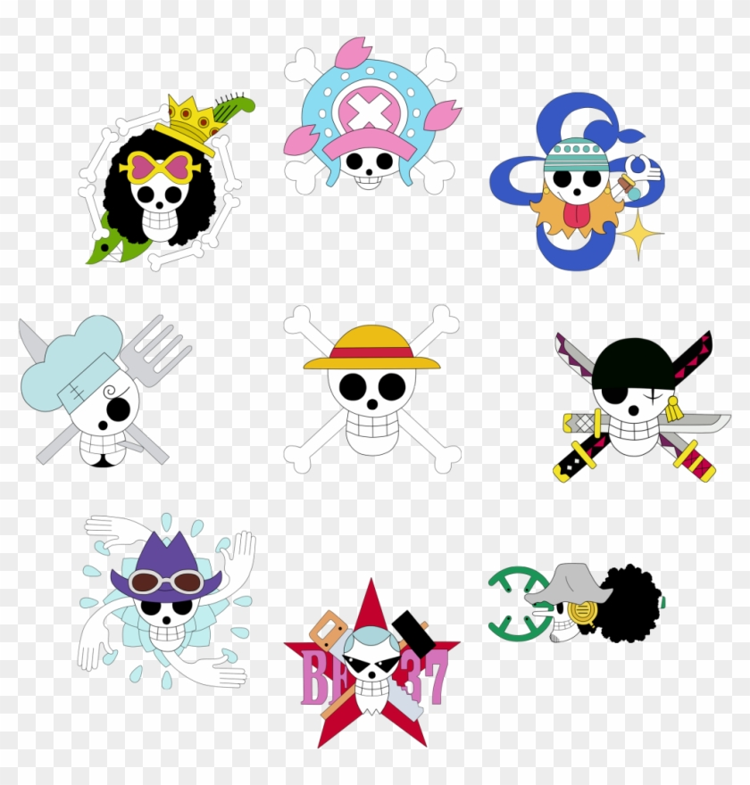 One Piece Jolly Roger Wallpaper One Piece Crew Jolly Rogers Clipart 1372793 Pikpng
