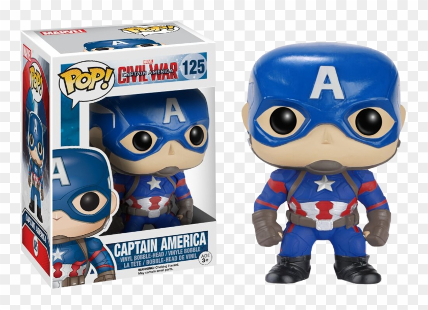 Civil War - Civil War Captain America Funko Pop Clipart #1373851
