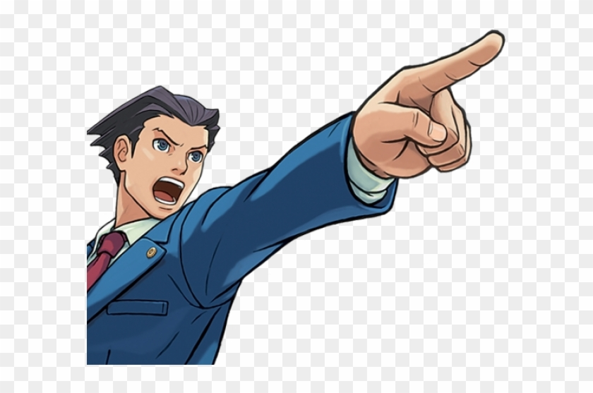 Lawyer Clipart Objection Phoenix Wright Png Transparent Png
